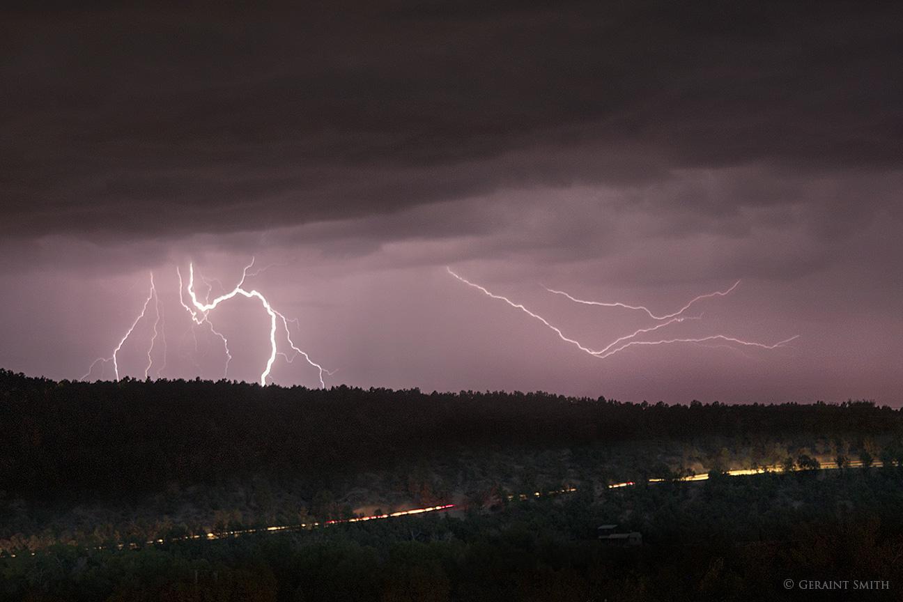 Lightning strikes San Cristobal