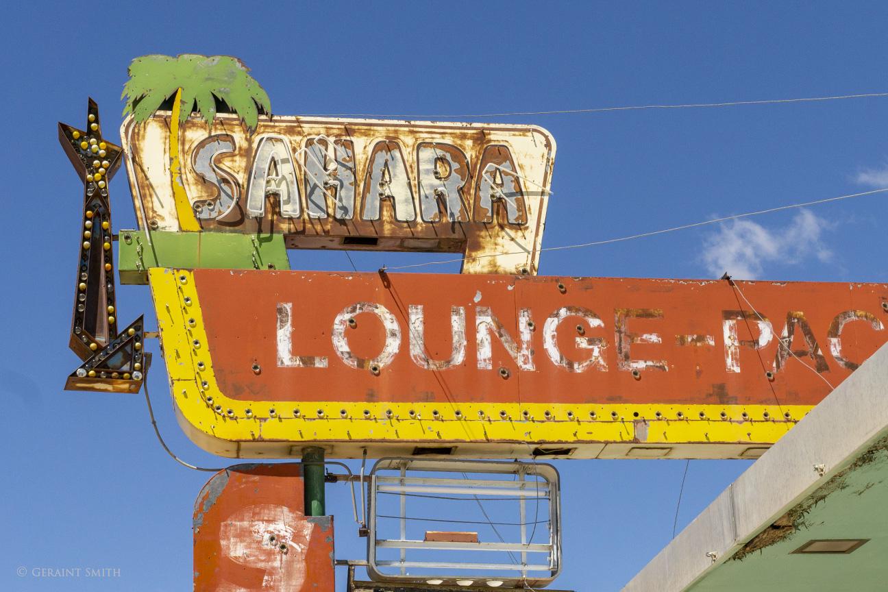 Sahara Lounge sign, Tucumcari