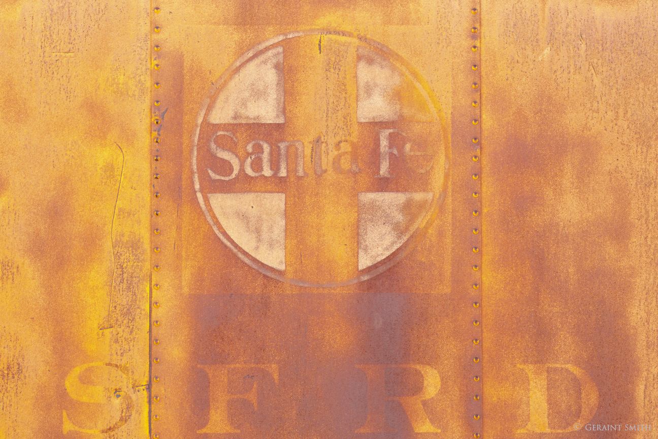 Sants Fe Railroad boxcar logo, Tucumcari