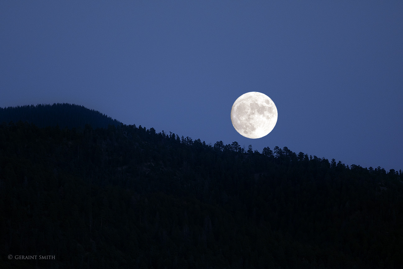 Harvest moonrise, San Cristobal, NM