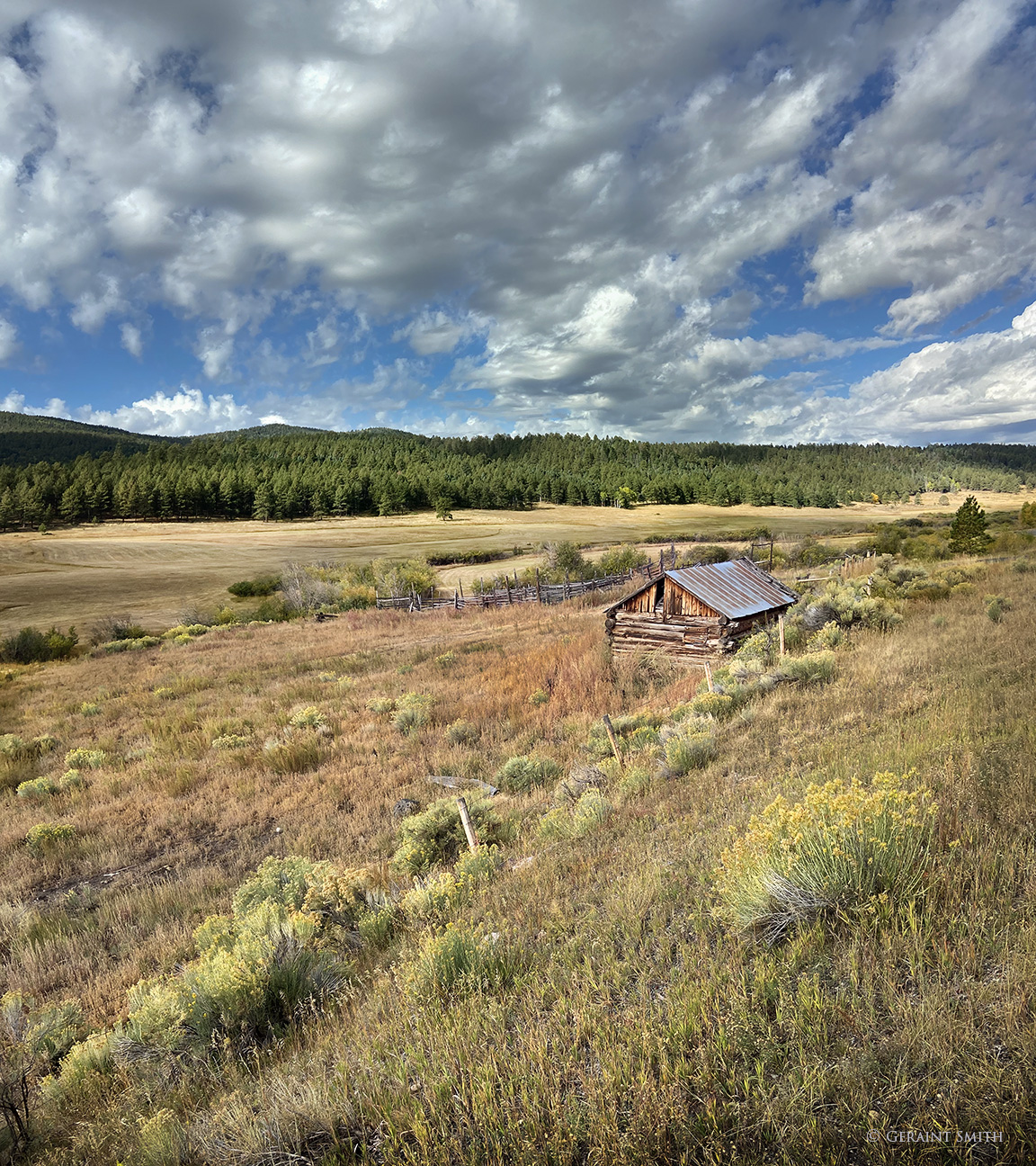 Wood barn, Highway 64, New Mexico