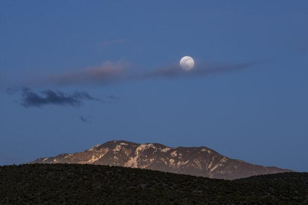 Taos Mountain Moonrise